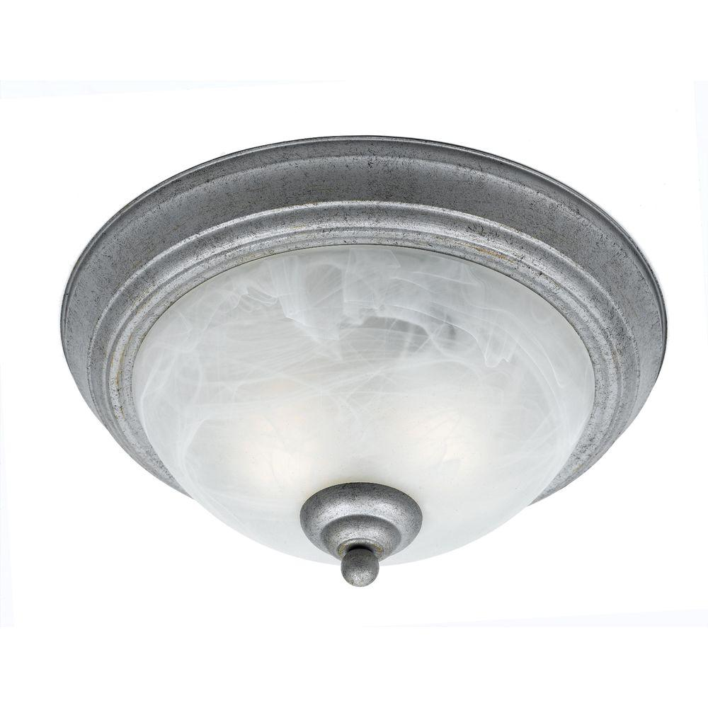 Filament Design Value 2-Light Old Silver Flush Mount