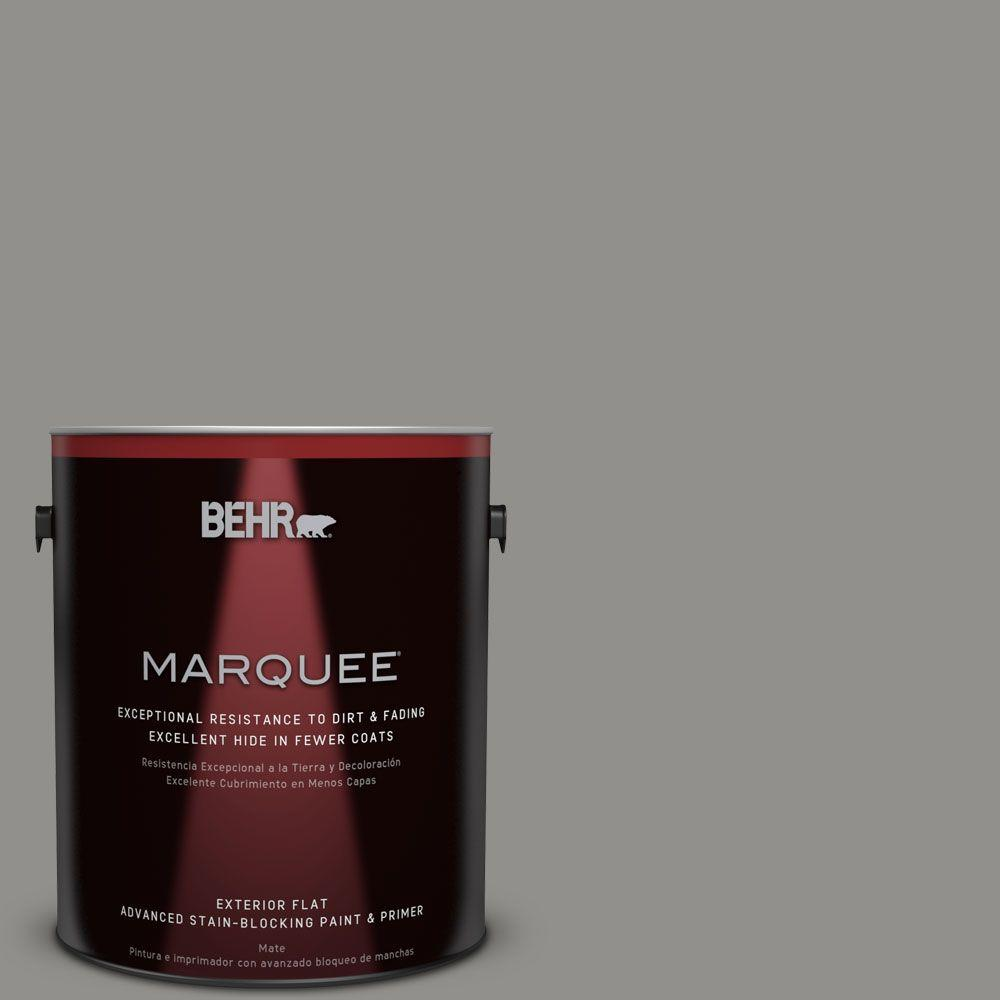 BEHR MARQUEE Home Decorators Collection 1-gal. #HDC-AC-19 Grant Gray Flat Exterior Paint