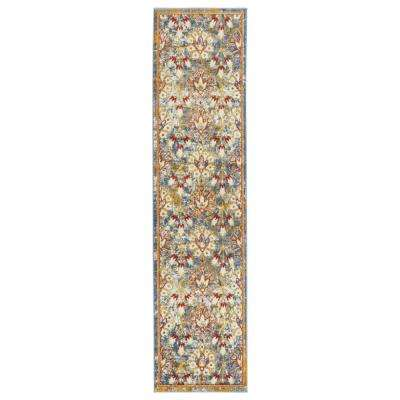 Scentasia Ivory-Yellow Bordered 2 ft. 6 in. x 10 ft. 3 in. Runner Rug