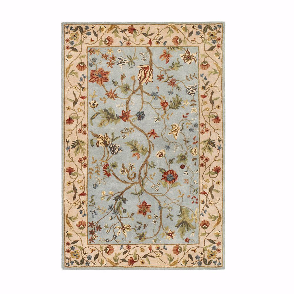 Home decorators collection antoinette wembley blue beige for Home decorators chenille rug