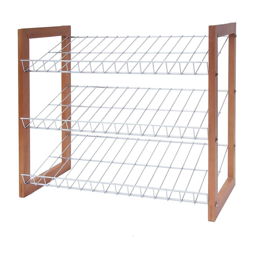 Neu Home 3-Tier 9-Pair Storage Shoe Shelf