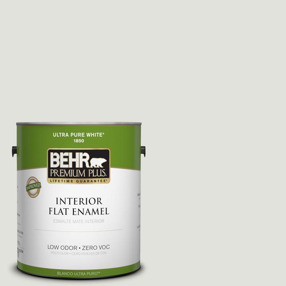 BEHR Premium Plus 1-gal. #PPL-75 Wisdom Zero VOC Flat Enamel Interior Paint-DISCONTINUED