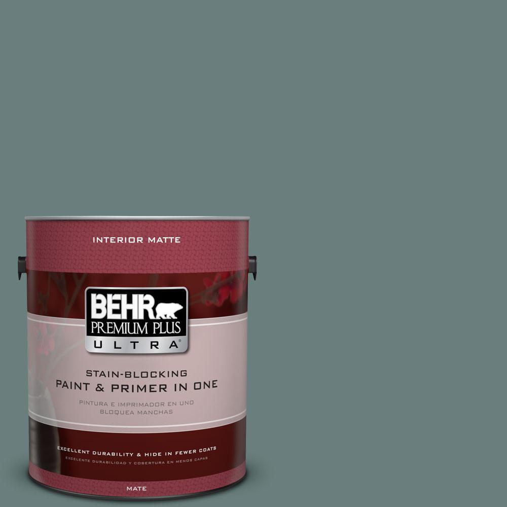 BEHR Premium Plus Ultra 1 gal. #N430-5 Aspen Valley Matte Interior Paint