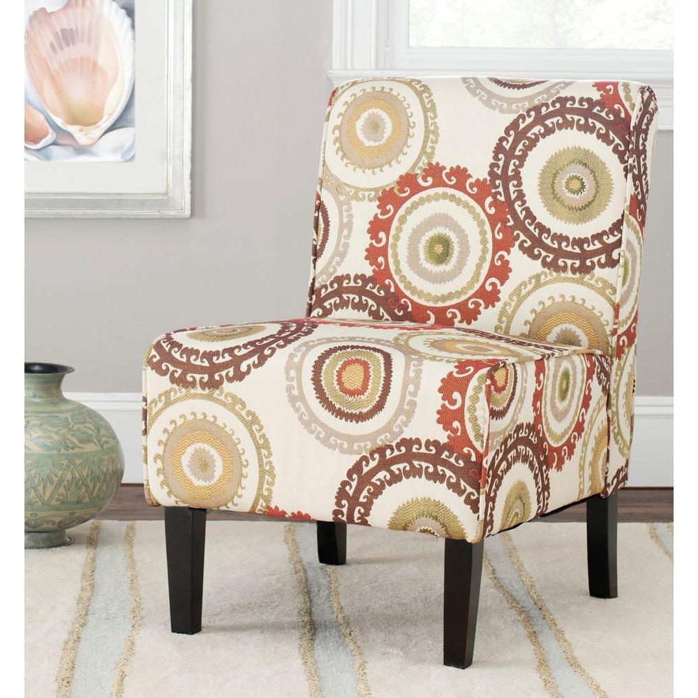Safavieh Marka Multi Color Slipper Chair MCR1004A