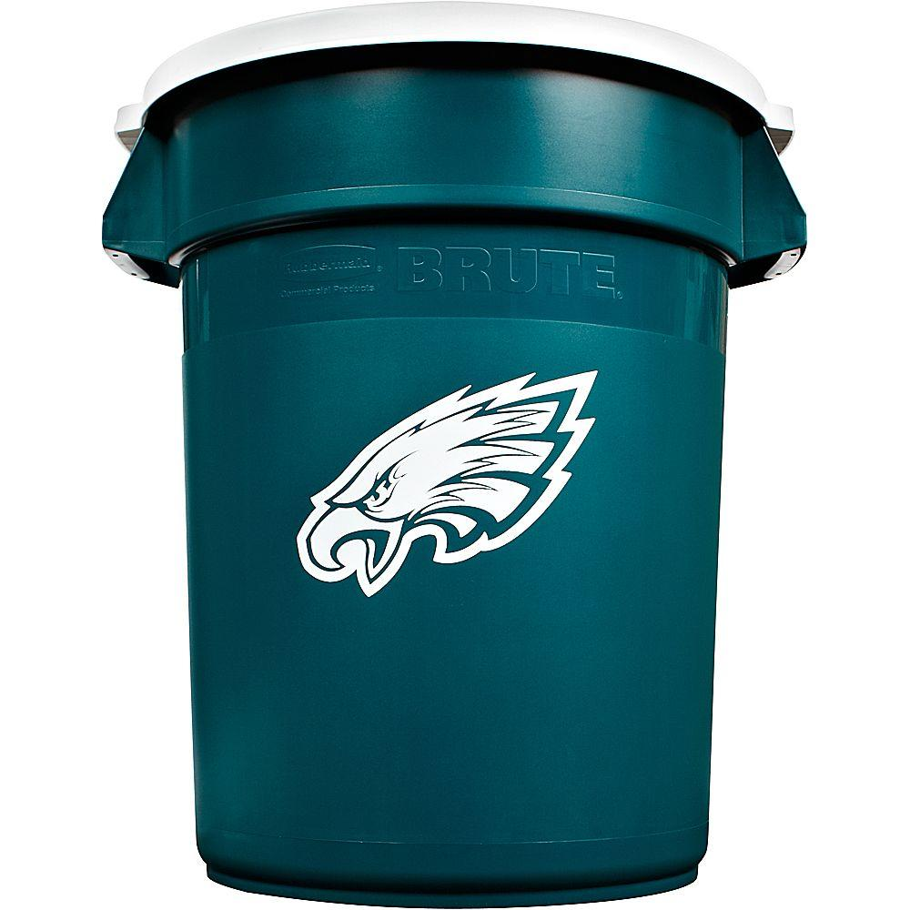 Rubbermaid Commercial Products BRUTE NFL 32 Gal. Philadelphia Eagles Round Trash Can with Lid