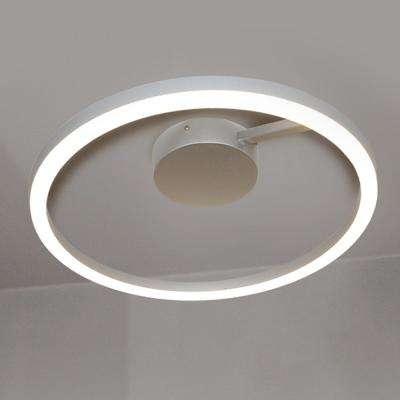 Zuben Collection 20 in. Silver Integrated LED Modern Circular Ceiling Fixture