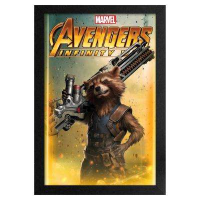 Avengers -Infinity War- Rocket Raccoon 11x17 Framed Print