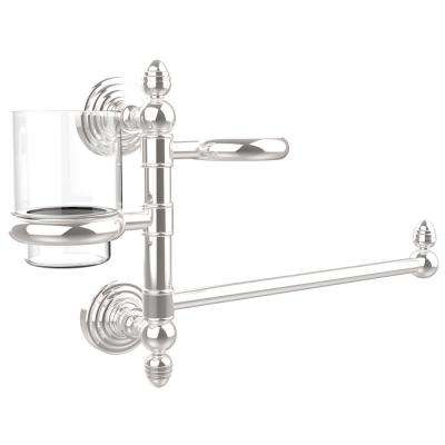 Waverly Place Collection Hair Dryer Holder and Organizer in Polished Chrome