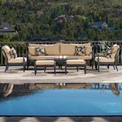 Astoria 8-Piece Patio Seating Set with Delano Beige Cushions