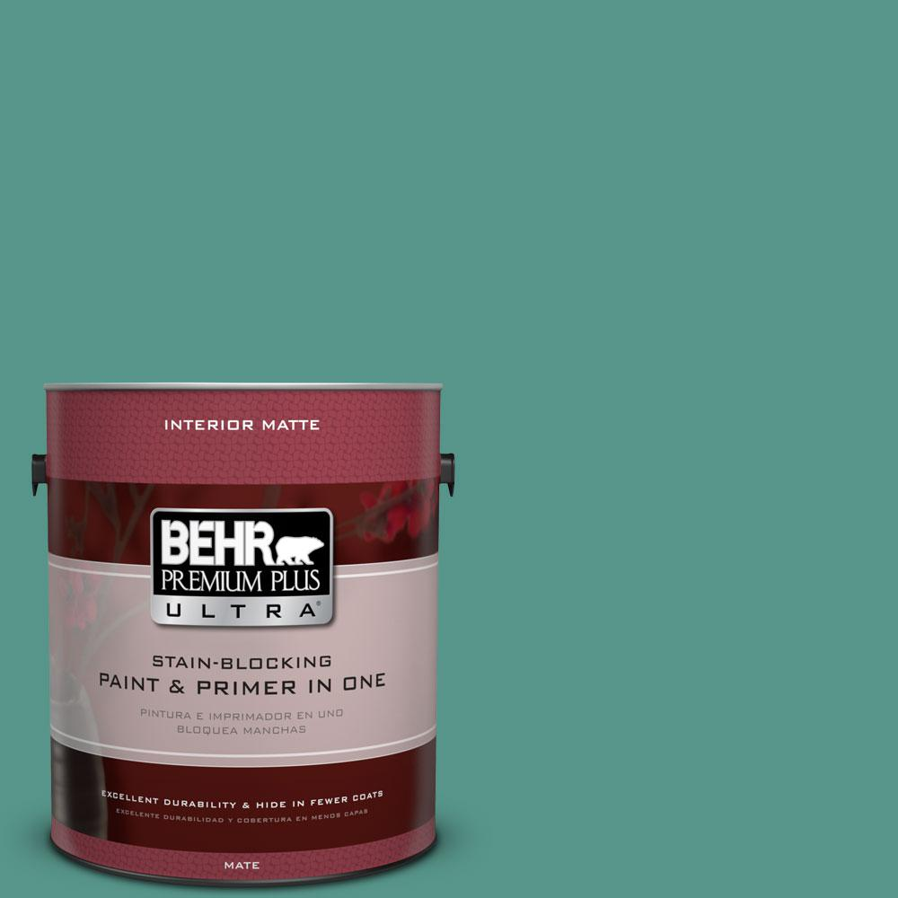 BEHR Premium Plus Ultra 1 gal. #490D-6 Thermal Spring Flat/Matte Interior Paint