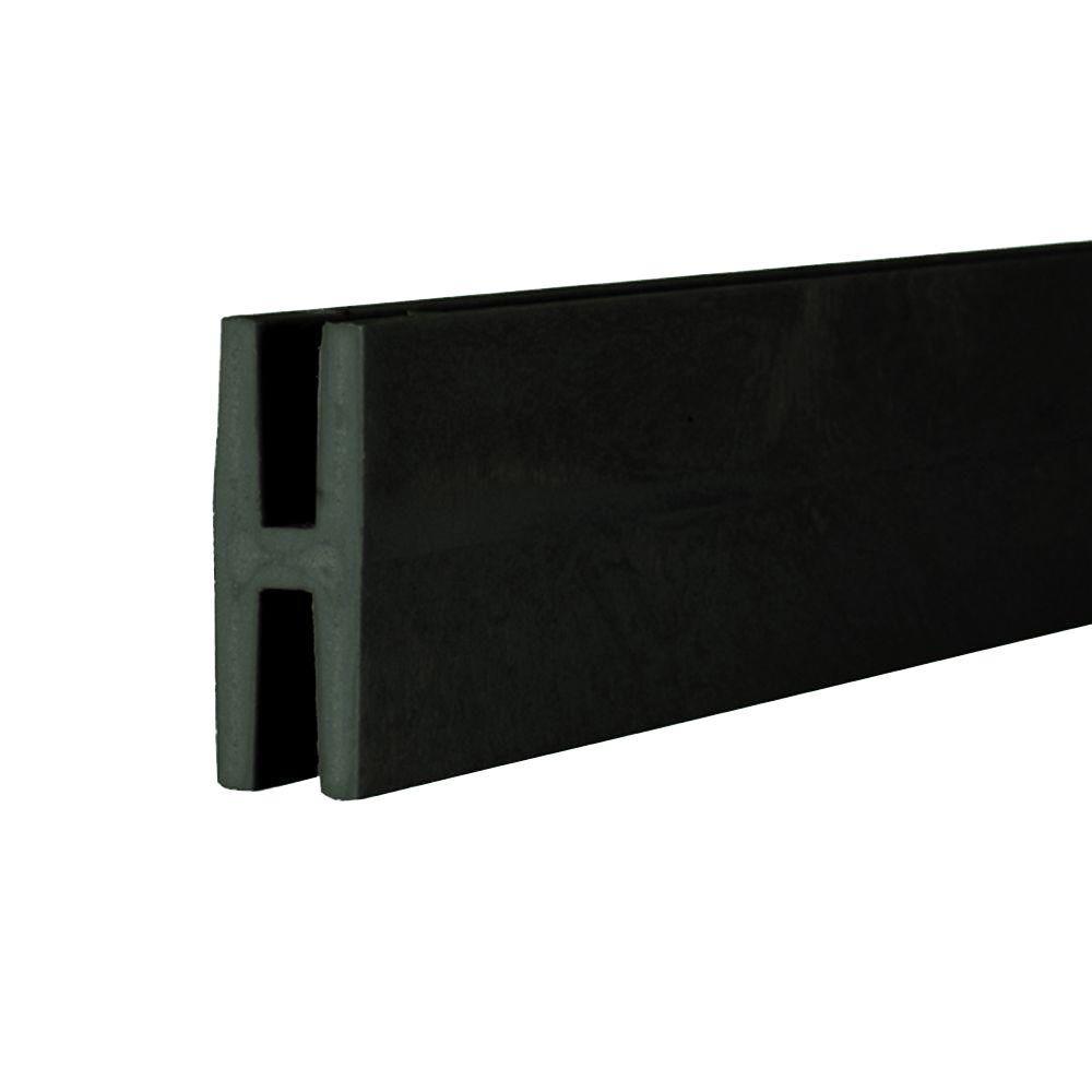 0.75 in. x 2 in. x 8 ft. Black Plastic Lattice Divider
