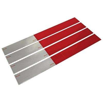Conspicuity Tape with Reflective Strips