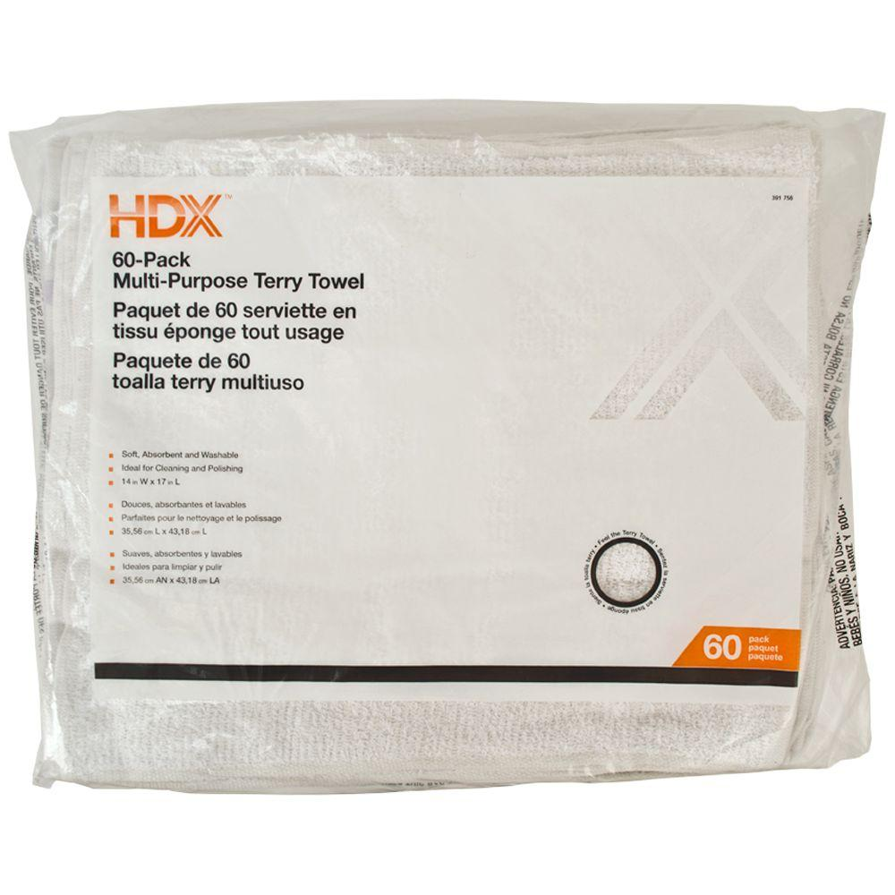 HDX Terry Towels (60-Pack)
