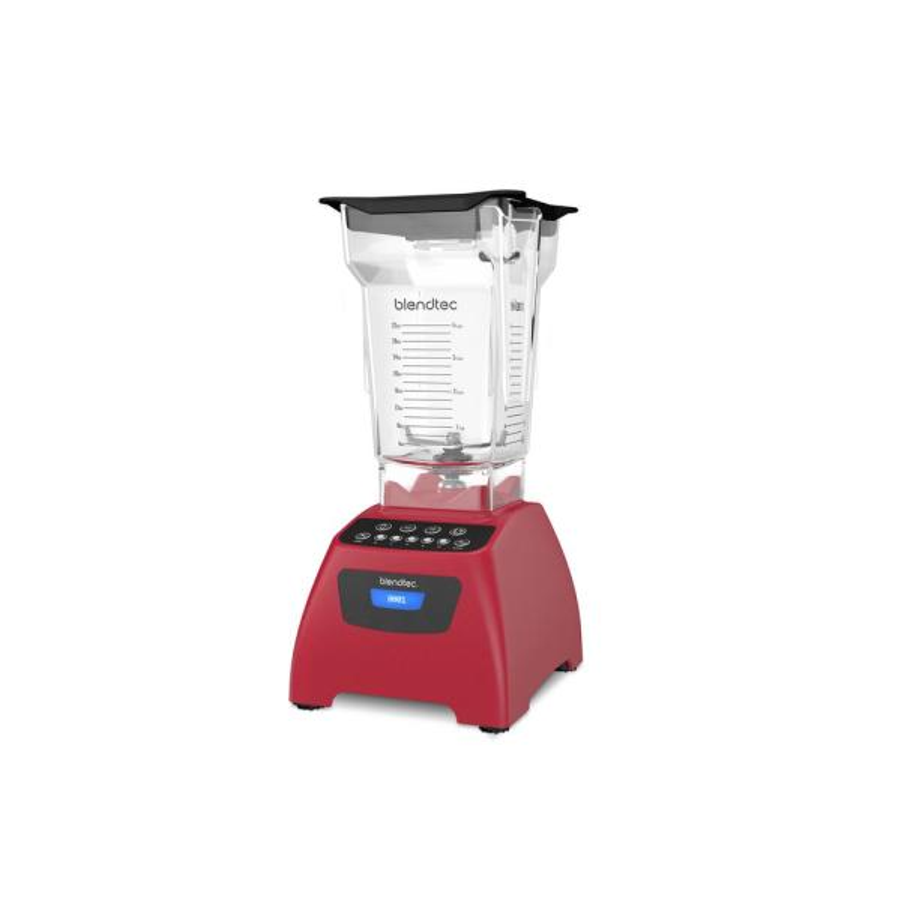 Blendtec Classic 575 75 oz. 5-Speed Poppy Blender with FourSide Blender Jar