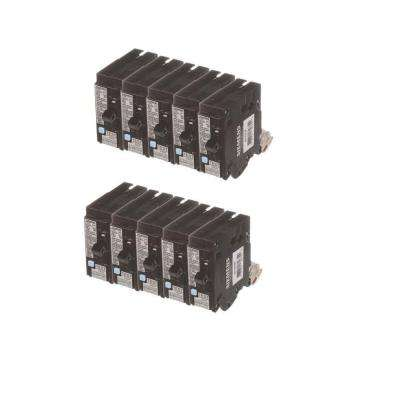20 Amp Single Pole Dual Function Circuit Breakers (10-Pack)