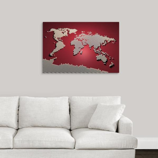 Canvas Maps Of The World on