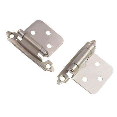 Satin Nickel Traditional Variable Overlay Hinge (25-Pair)