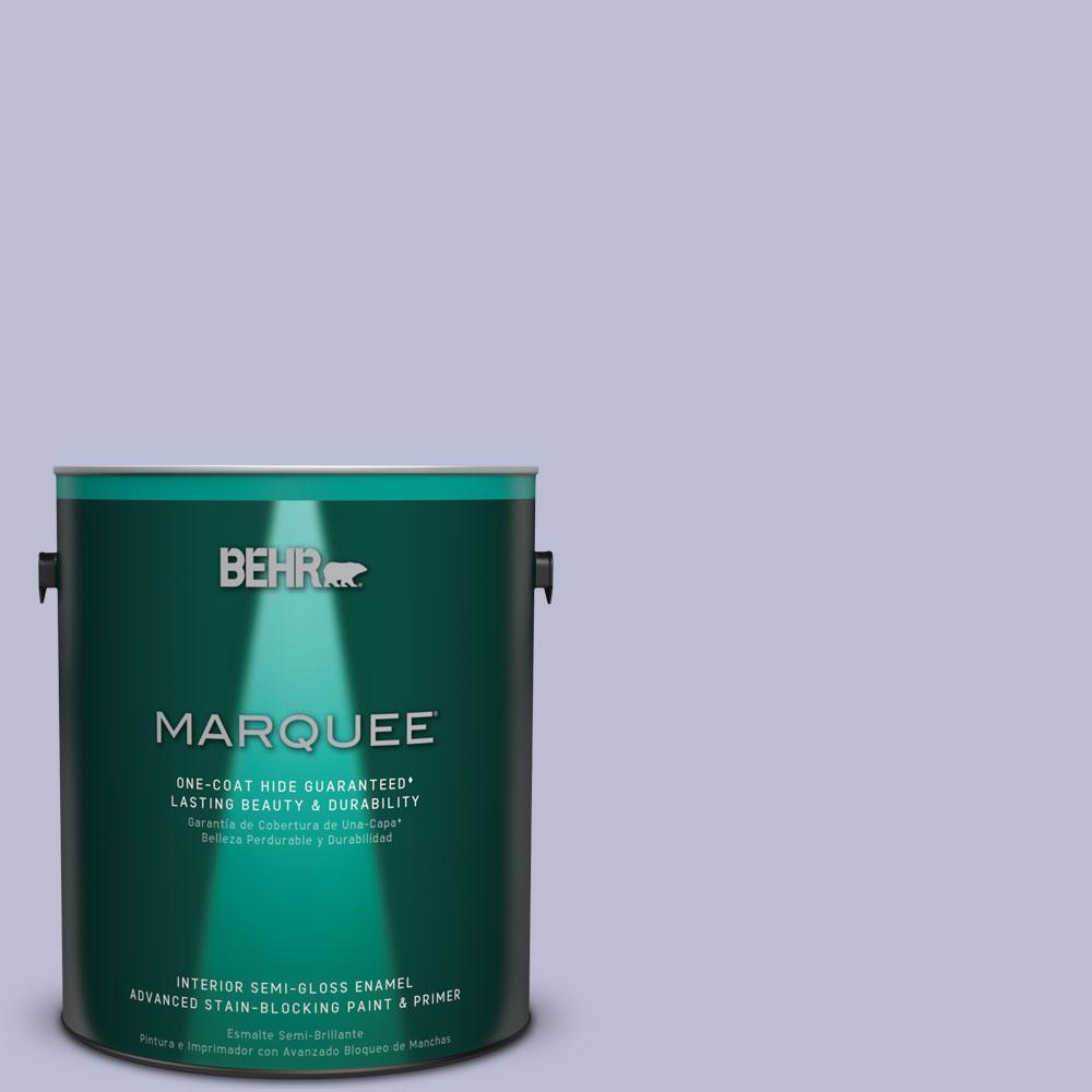 1 gal. #PPU15-15 Sweet Juliet One-Coat Hide Semi-Gloss Enamel Interior Paint