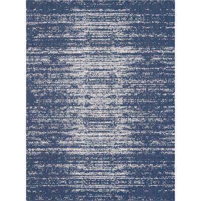 Unique Loom Decatur Static Navy Blue 8 ft. 5 in. x 11 ft. 4 in. Area Rug