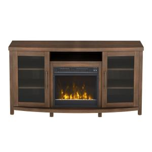 Classic Flame Rossville 54 inch Media Console Electric Fireplace in Stanton Birch by Electric Fireplaces