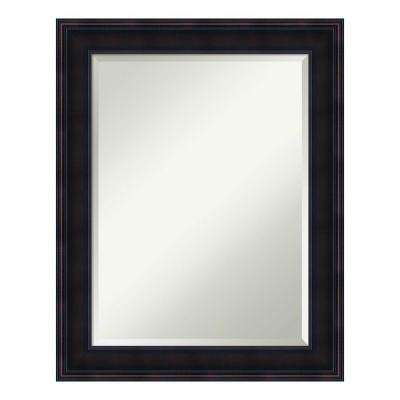 Annatto Mahogany Wood 23 in. x 29 in. Traditional Bathroom Vanity Mirror