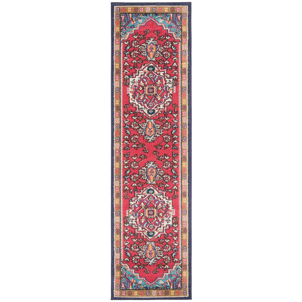 Safavieh Monaco Red/Turquoise 2 ft. x 8 ft. Runner Rug