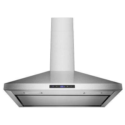 30 in. 441 CFM Wall Mount Stainless Steel Range Hood with LED Lights in Brushed Stainless Steel