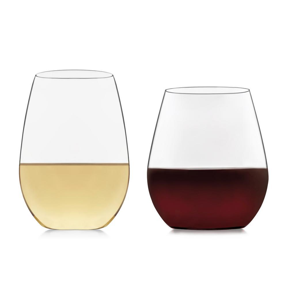 Signature Kentfield 12-piece Stemless Wine Glass Party Set