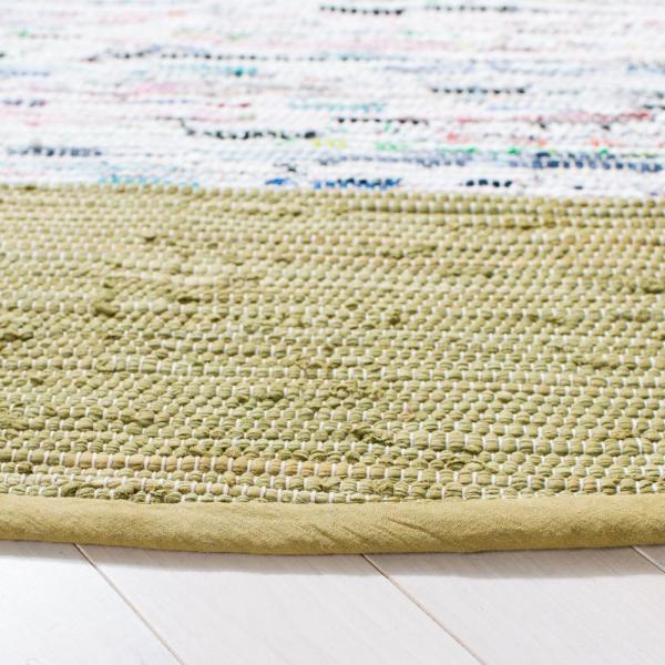 Safavieh Montauk Ivory Olive 6 Ft X 6 Ft Round Area Rug Mtk711k 6r The Home Depot