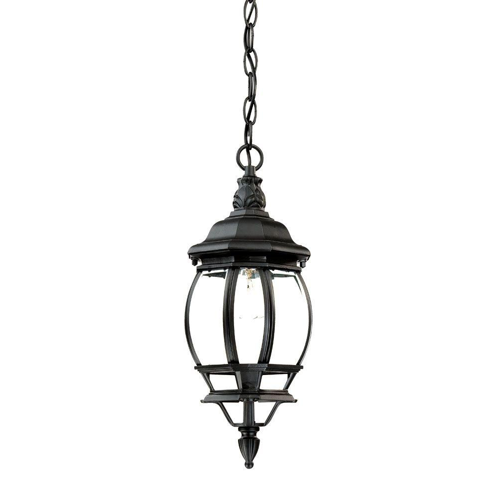 Acclaim Lighting Chateau Collection 1-Light Matte Black Outdoor Hanging Lantern