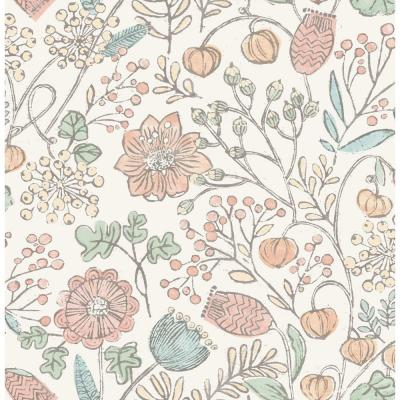 Pastel Southern Trail Peel and Stick Strippable Wallpaper Sample Covers 0.56 sq. ft.