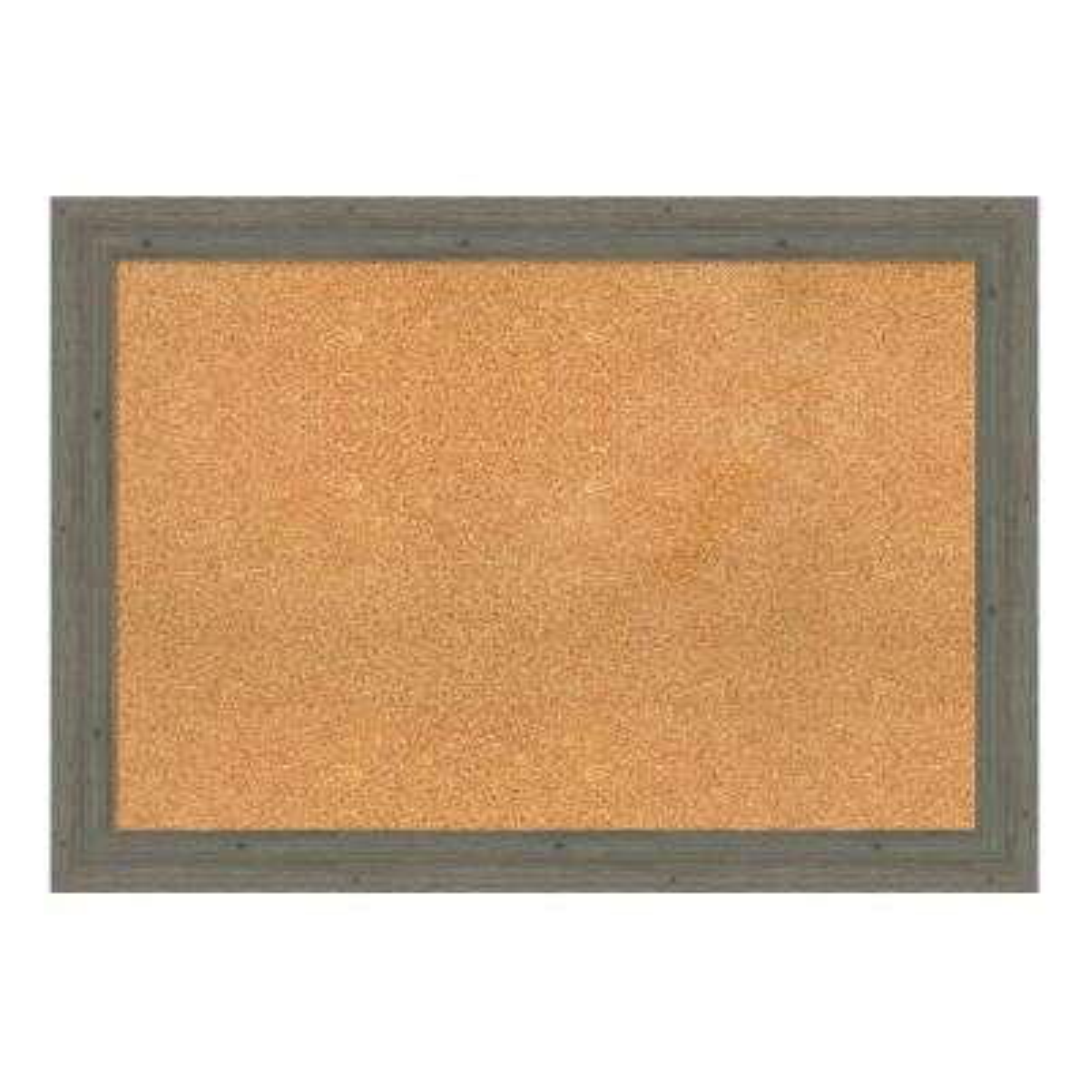 Fencepost Grey Narrow Framed Cork Memo Board
