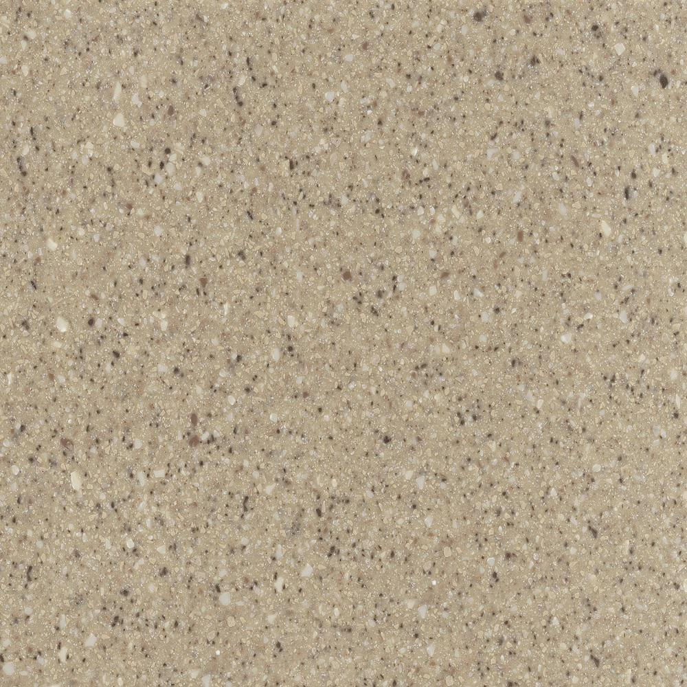 2 in. x 2 in. Solid Surface Countertop Sample in Granola