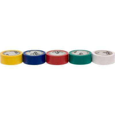 14 ft. 3/4 in. Electrical Tape Assorted Color (5-Piece)