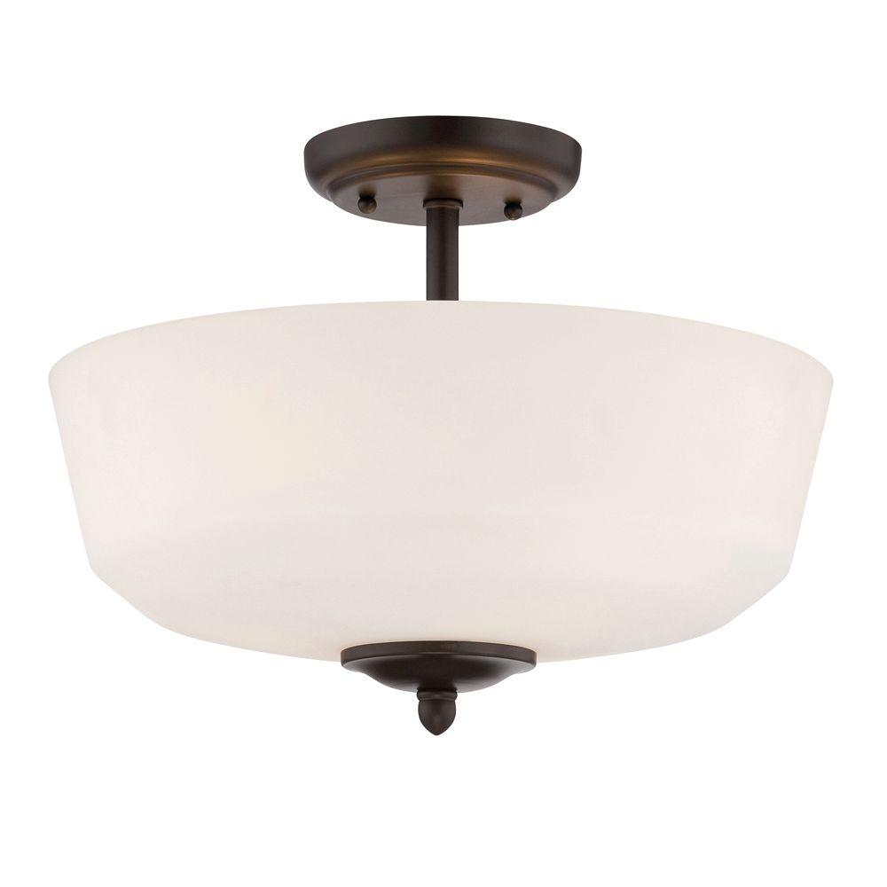 Darcy 3-Light Oil-Rubbed Bronze Semi-Flush Mount Light