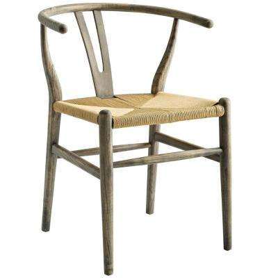 Amish Weathered Gray Dining Wood Side Chair