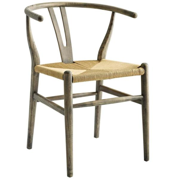 Awesome Modway Amish Weathered Gray Dining Wood Side Chair Eei 3047 Download Free Architecture Designs Grimeyleaguecom
