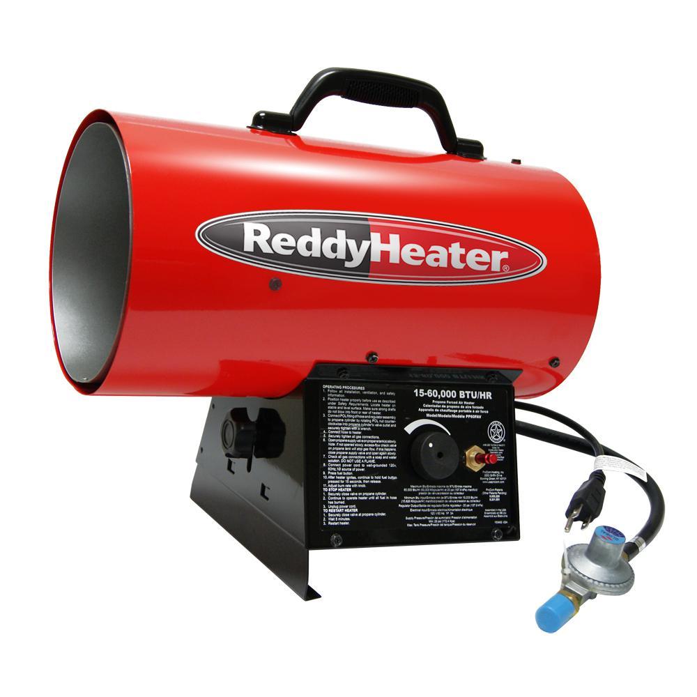 60,000 BTU Forced Air LP Gas Portable Heater