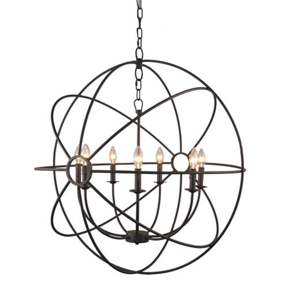 Y Decor Infinity 7-Light Rustic Bronze Mini Chandelier-LZ2005-7-RS ...