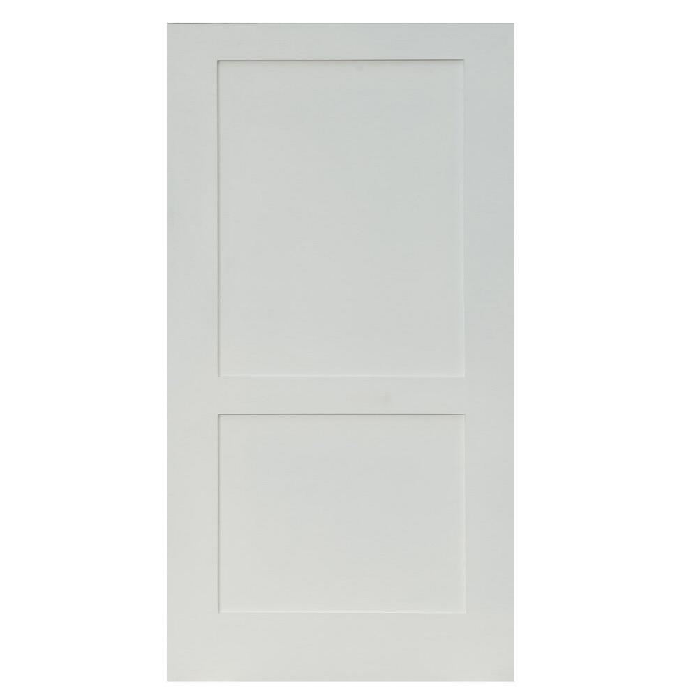 28 in. x 80 in. Shaker Primed 2-Panel Solid Core MDF
