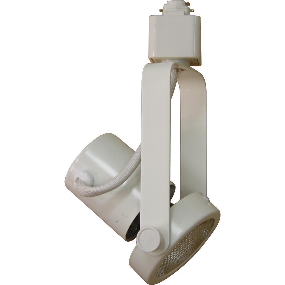 1-Light Black Adjustable Small Medium Gimbal Ring Track Lighting Head