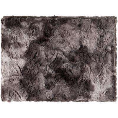 Logan Black Polyester Throw