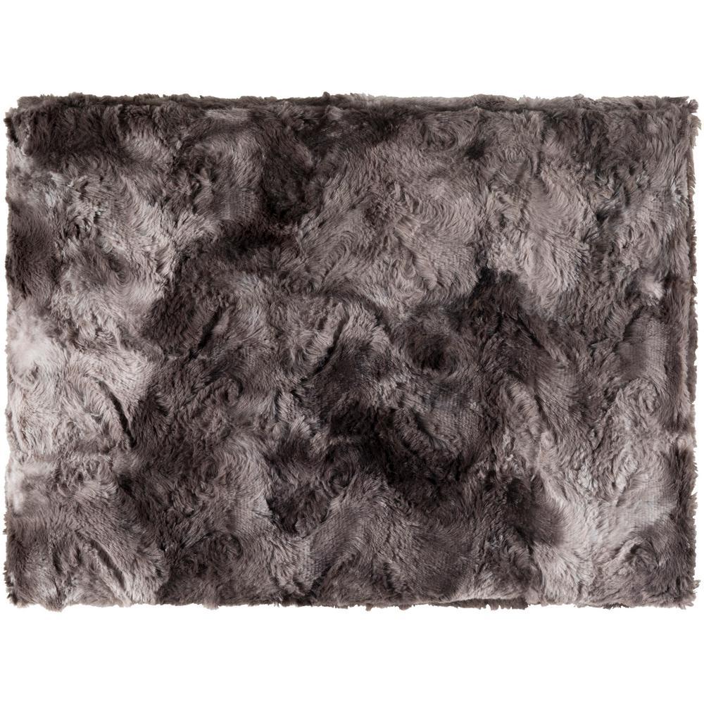 Logan Black Polyester Throw
