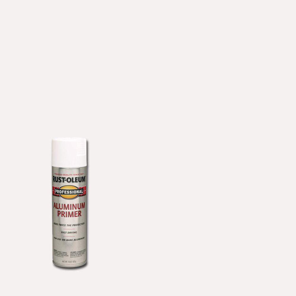 Rust-Oleum Professional 15 oz. Flat White Interior/Exterior Aluminum Primer Spray