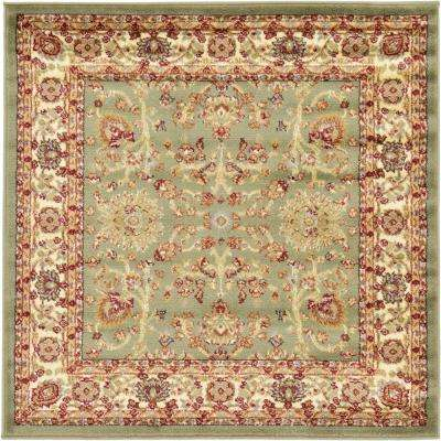 Voyage St. Florence Light Green 4' 0 x 4' 0 Square Rug