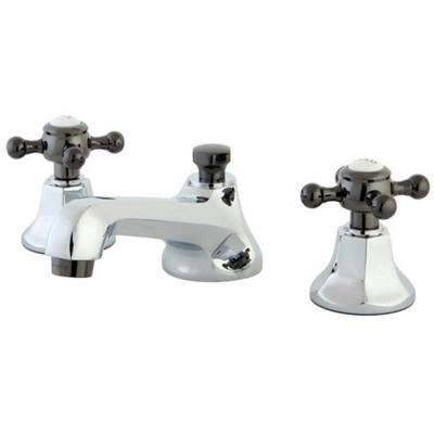 Lovely Kate 8 In. Widespread 2 Handle Cross Handles Bathroom Faucet ...