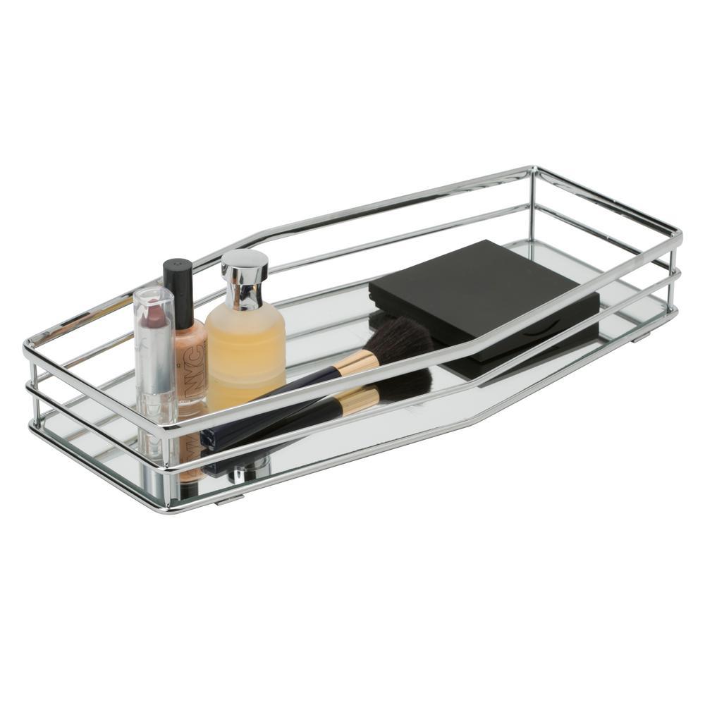 Double Rail Design Mirror Vanity Tray