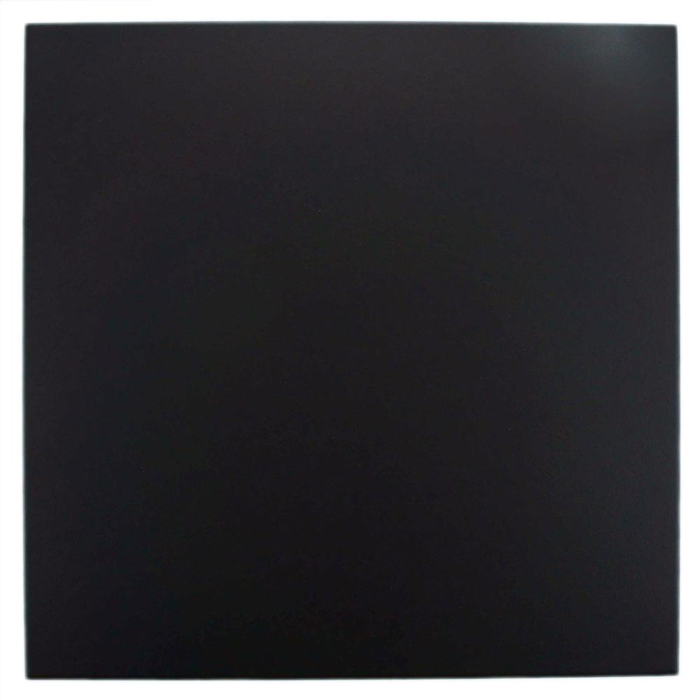 Merola Tile Anthracite Black 7-3/4 in. x 7-3/4 in. Ceramic Floor and Wall Tile (11 sq. ft. / case)