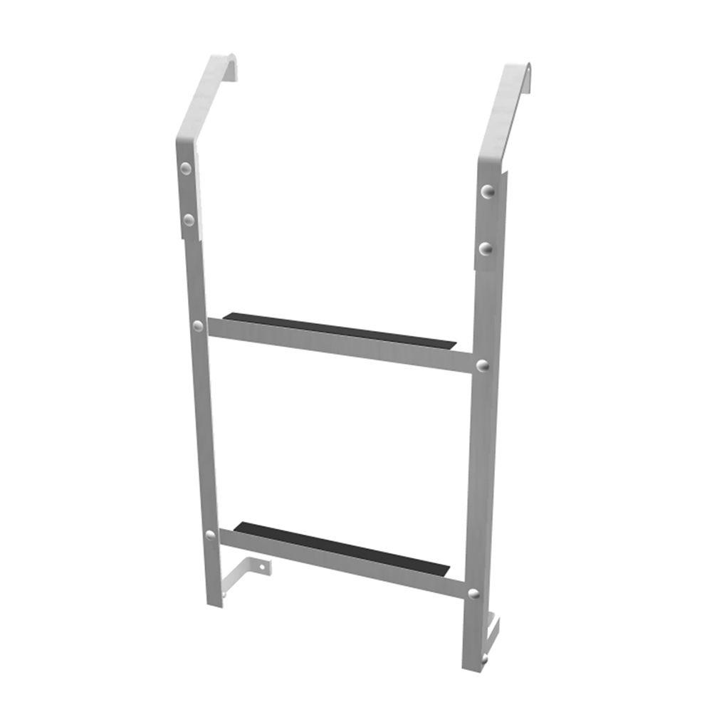 Ultra Protect 2-Step Aluminum Basement Window Well Egress Escape Ladder