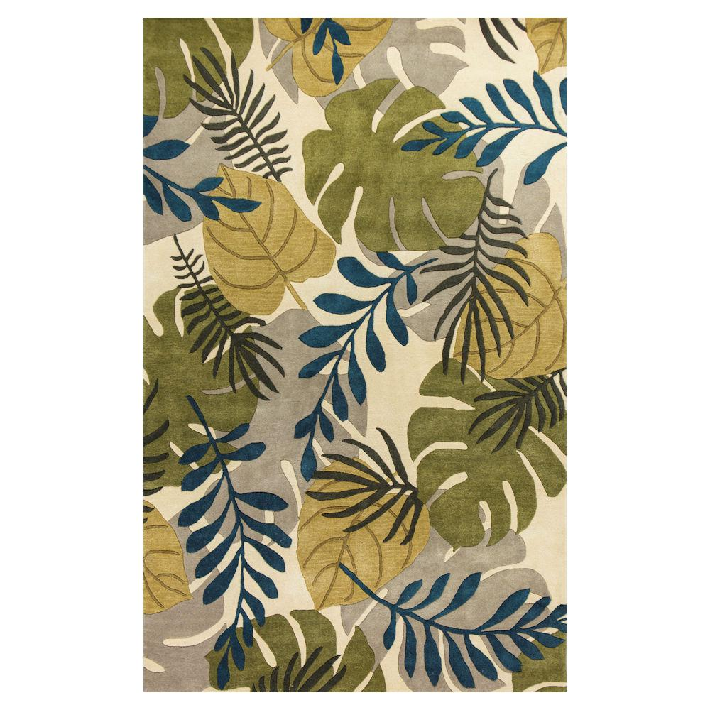 Palm Leaf Ivory 8 ft. x 10 ft. 6 in. Area